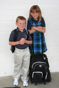 Christopher and Sydney's first day back to school for the 2006-2007 school year at St. John's Lutheran School.