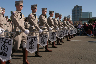 Texas A&M University's Fightin' Texas Aggie Band marching in the 2006 Port of San Diego Big Bay Balloon Parade.