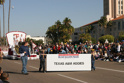 Texas A&M float in the 2006 Port of San Diego Big Bay Balloon Parade