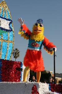 The Famous Chicken, aka San Diego Chicken. 2006 Port of San Diego Big Bay Balloon Parade