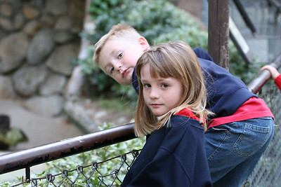 Sydney and Christopher enjoying the day at the Los Angeles Zoo.