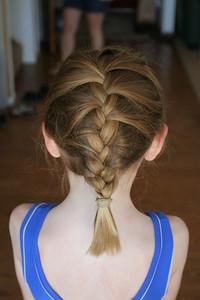 Aunt Betsy braided Sydney's hair. Isn't it beautiful?!