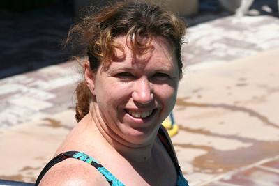 Ryan's Graduation 2006 - Aunt Tracy enjoying a swim on Sunday after Grad Day