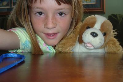 Polly, one of Sydney's many stuffed animals.