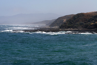 Looking up the coast from the southern end of Spooner's Cove in Montaña de Oro State Park.