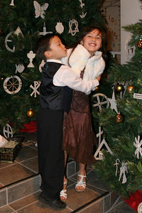 Eli and Sierra after their great job playing during Ms. Krumdiek's music recital.