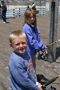 Christopher and Sydney are ready to catch some fish from the Pismo Beach Pier.