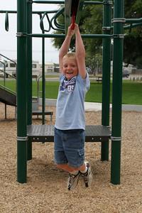 Christopher enjoying the playground in the Oceano Memorial Park.