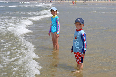 Christopher and Sydney enjoying the beach during our camping trip to Pismo State Beach's North Beach Campground.