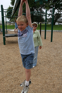 Christopher and Kathy enjoying the playground in the Oceano Memorial Park.