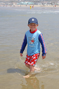 Christopher enjoying the beach during our camping trip to Pismo State Beach's North Beach Campground.