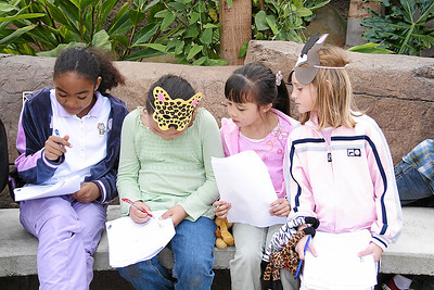Alanna, Sierra and Sydney at Alanna and Jaison's birthday party at the Santa Barbara Zoo