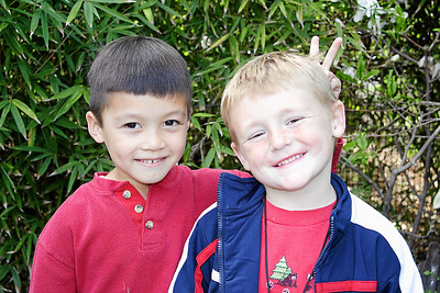 Eli and Christopher at Alanna and Jaison's birthday party at the Santa Barbara Zoo