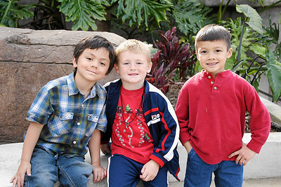 Jaison, Christopher and Eli at Alanna and Jaison's birthday party at the Santa Barbara Zoo