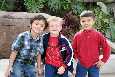 Jaison, Christopher and Eli at Alanna and Jaison's birthday party at the Santa Barbara Zoo