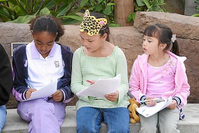 Alanna and Sierra at Alanna and Jaison's birthday party at the Santa Barbara Zoo