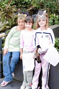 Alanna, Sierra and Sydney at Alanna and Jaison's birthday party at the Santa Barbara Zoo