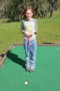 Sydney after her Hole-in-One! during a round of miniature golf while visiting the Roth Lake House, which is located on Lake Nacimiento in the Oak Shores gated community.
