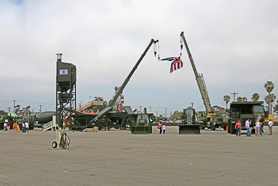 Seabee Days static displays. Quite an impressive line up of equipment, which included a new concrete batch plant.