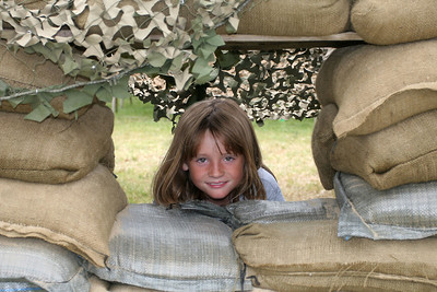 Sydney maintaining a lookout on the camp perimeter during the 2006 Seabee Days.