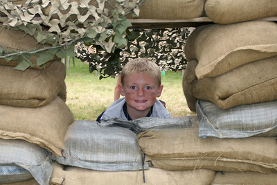 Christopher maintaining a lookout on the camp perimeter during the 2006 Seabee Days.