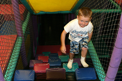 Christopher enjoying himself during Sydney's 8th Birthday Party at the Ventura YMCA.