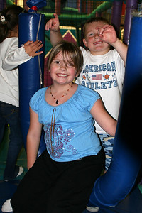 Bailey and Christopher enjoying themselves during Sydney's 8th Birthday Party at the Ventura YMCA.