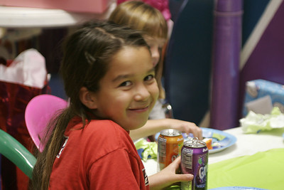 Taylor taking a break during Sydney's 8th Birthday Party at the Ventura YMCA.