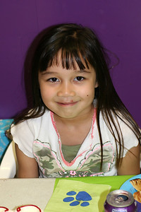 Sierra getting ready for some cake during Sydney's 8th Birthday Party at the Ventura YMCA.