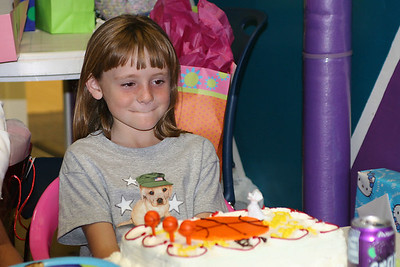 Sydney about to blow out the candles during her 8th Birthday Party.