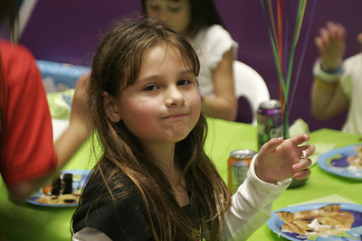 Cassidy polishing off some cake during Sydney's 8th Birthday Party at the Ventura YMCA.
