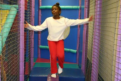 Ashley enjoying herself during Sydney's 8th Birthday Party at the Ventura YMCA.