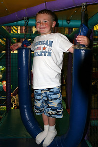 Christopher taking a break during Sydney's 8th Birthday Party at the Ventura YMCA.