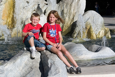 Sydney and Christopher enjoying a day at the Getty Center.