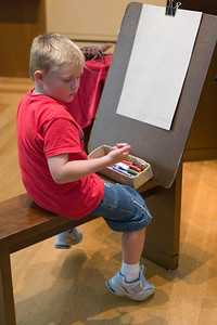 Artist Christopher creating a masterpiece at the Getty Center.