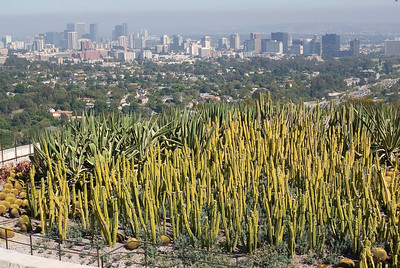 View of the Los Angeles skyline from the Getty Center.