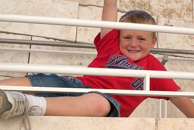 Christopher enjoying a day at the Getty Center.