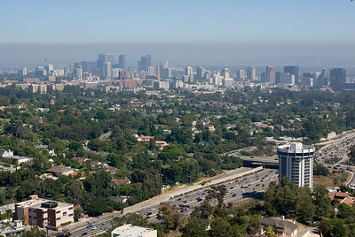 Los Angeles skyline as viewed from the Getty Center.