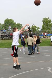 Bryce playing basketball. 2006 Lutheran elementary school track meet.