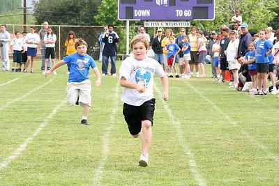 Jack running the 50-meter dash. 2006 Lutheran elementary school track meet.