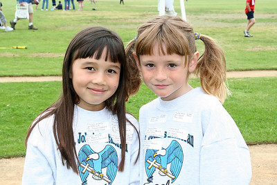 Sierra and Sydney. 2006 Lutheran elementary school track meet.