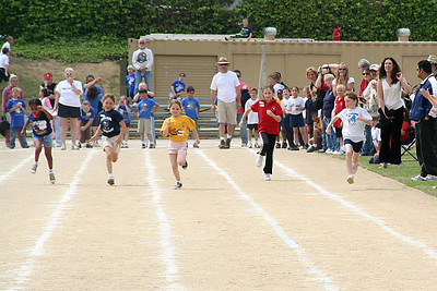 Sydney competing in the 75-meter dash, which she won. 2006 Lutheran elementary school track meet.