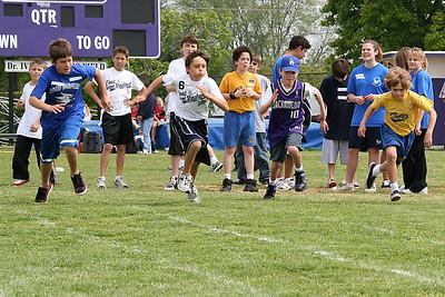 Chris competing in the 50-meter dash. 2006 Lutheran elementary school track meet.