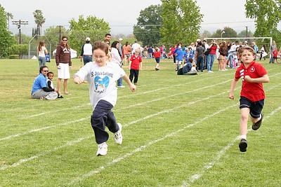 Eric running the 50-meter dash. 2006 Lutheran elementary school track meet.