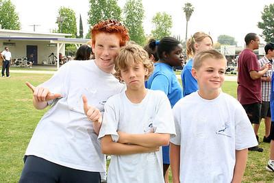 Ryan, Justin and Patrick. 2006 Lutheran elementary school track meet.