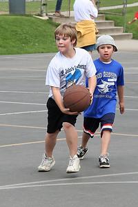 Jack playing basketball. 2006 Lutheran elementary school track meet.