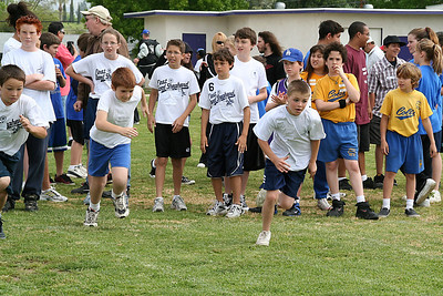 Patrick competing in the 50-meter dash. 2006 Lutheran elementary school track meet.