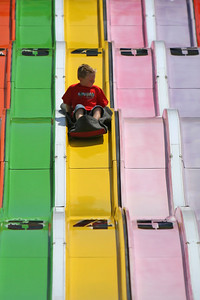 Christopher speeding down the super slide at the 2006 Ventura County Fair