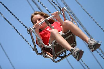 Sydney enjoying the chair-swing ride at the 2006 Ventura County Fair