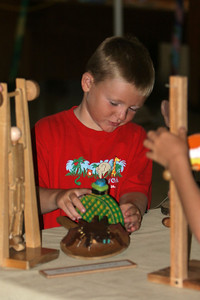Christopher playing with one of the many wooden toys brought to the fair each year by Gene West. 2006 Ventura County Fair
